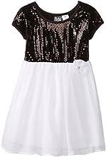 Pogo Club Little Girls39 Miles Sequin Chiffon Dress