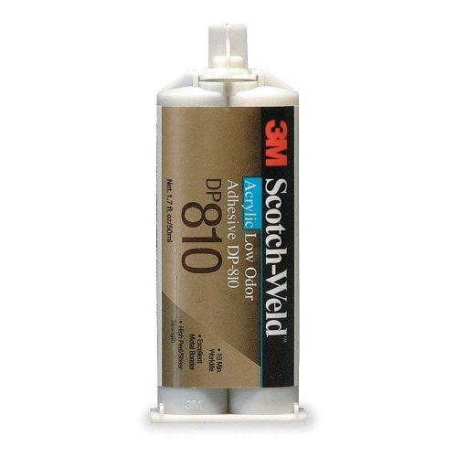 [해외]3M 스카치 - 용접 DP810 낮은 냄새 아크릴 접착제, 50 ㎖, 블랙/3M Scotch-Weld DP810 Low Odor Acrylic Adhesive, 50mL, Black