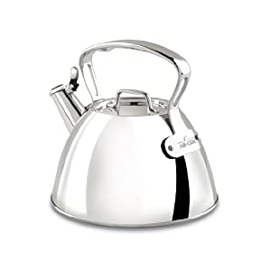 All-Clad E8619964 Stainless Steel Specialty Cookware Tea Kettle, Silver by All-Clad
