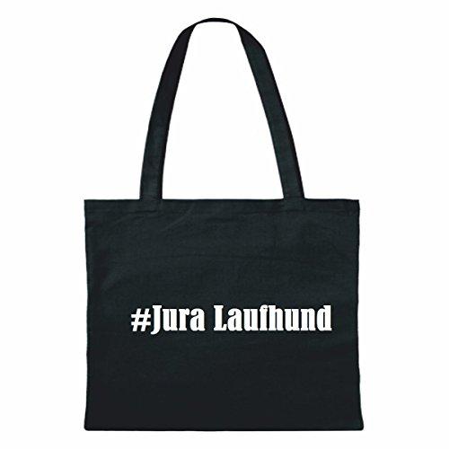 """Tasche""""#Jura Laufhund""""Größe""""38x42""""Farbe""""Schwarz""""Druck""""Weiss"""