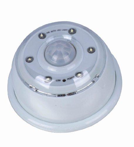 Super Bright 6 Led Wireless Auto Pir Sensitive Motion Sensor Activated Light - White