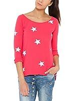 Tantra Camiseta Manga Larga Stars Print (Rosa)