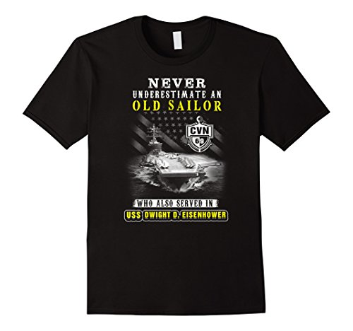 Men's USS Dwight D.Eisenhower (CVN-69) T-shirt , Never underestima XL Black (Uss Dwight D Eisenhower compare prices)