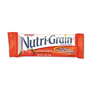 Nutrigrain Cereal Bars,Low Fat,1.3 oz.,16/BX,Strawberry
