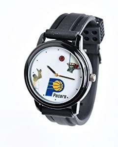 NBA Indiana Pacers Shooting Ball Black Watch and Band by Overtime Watch