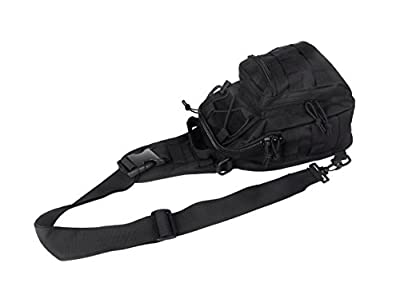 Black Tactical Shoulder Bag for Crossfit - Perfect for EDC (Every Day Carry) - 100% Guaranteed
