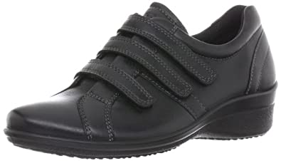 ECCO Women's Corse 3-Strap Wedge,Black,39 EU/8-8.5 M US