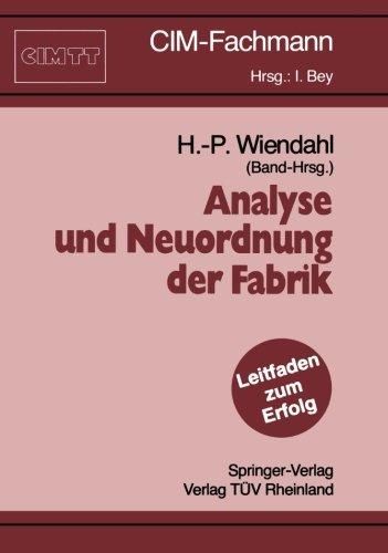 Analyse und Neuordnung der Fabrik (CIM-Fachmann)  (Tapa Blanda)