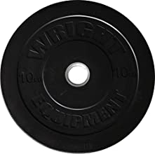 Wright 10 Lb Solid Rubber Bumper Weights - Great  Cross Training amp Olympic Lifting - Sold in pairs