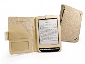 Tuff-Luv Natural Hemp Book-style case cover for Sony PRS-T1 e-reader - 'Desert' Sand
