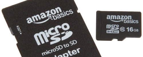 Amazonベーシック micro SDHCカード 16GB class10 SDアダプター付