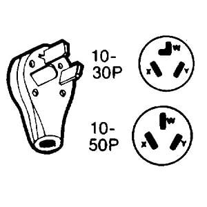 Angular Range Locking Plug - 125/250v Black
