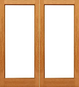 1 Lite French Brazilian Mahogany Wood Ig Glass Double Door 35 Entry Doors