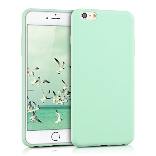 kwmobile-Chic-TPU-silicone-Case-per-Apple-iPhone-6-Plus-6S-Plus-in-menta-opaco