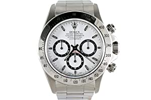 Rolex Mens Stainless Steel Daytona White Dial from Rolex
