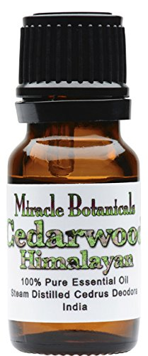 Miracle Botanicals Wildcrafted Himalayan Cedarwood Essential Oil - 100% Pure Cedrus Deodora - Therapeutic Grade - 10ml