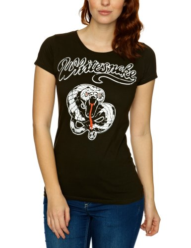 Logoshirt Vintage Rock - Whitesnake Logo Women's T-Shirt Vintage Black Large