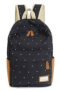 Amazon.com : Unisex Polka Dot Shoulder Backpack Mochilas Canvas 3D