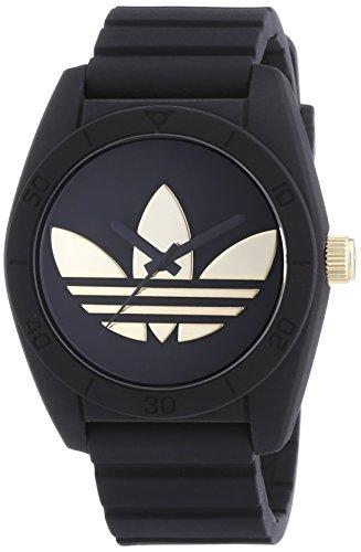 adidas - ADH2912 - Montre Mixte - Quartz Analogique - Cadran Multicolore - Bracelet Silicone Noir
