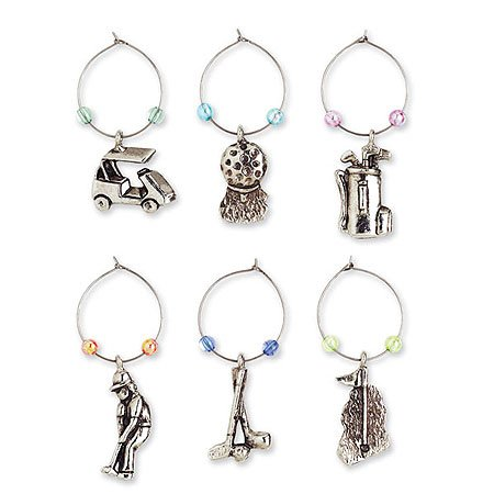 Bargain Wine Cellar Collection Of Suction Cup Wine Charms - Silver opportunity