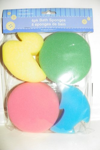 Baby Bath Sponges 4-pack - 1