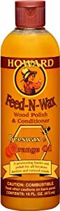 Howard FW0016 Feed-N-Wax Wood Polish and Conditioner, 48 Ounces