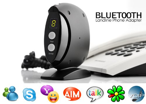 Wireless Bluetooth Landline Phone Adapter Telephone & Headset Hands Free Calling