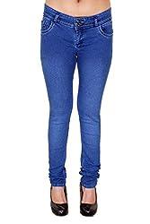 Zrestha Dark Blue Color Denim Jeans For Women