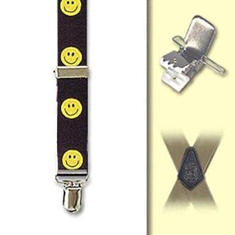 Suspender Factory Smiley Face 1 Inch Clip Suspenders - All Smiley Face