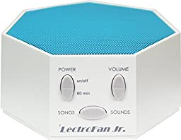 LectroFan Jr. - White Noise Machine with 6 Fan and 6 White Noise Options plus Nursery Rhymes, Blue (FFP)