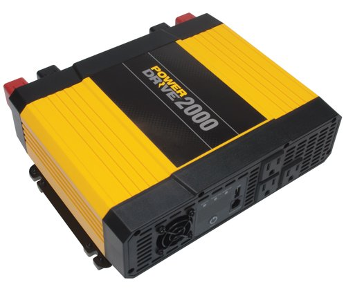 PowerDrive RPPD2000 2000-Watt DC to AC Power Inverter with USB Port and 3 AC Outlet