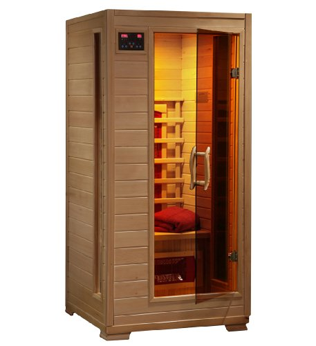 Cheapest Price! Radiant Saunas BSA2400 1-Person Hemlock Infrared Sauna with 3-Ceramic Heaters