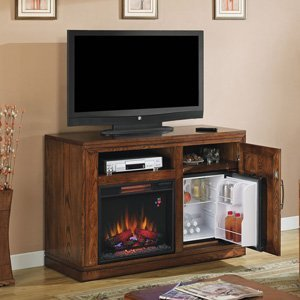 Classicflame Party Time Electric Fireplace Media Console In Midnight Oak - 23Tf2587-O114