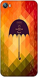 Snoogg retro umbrella symbol on hipster background made of triangles retro backgro Designer Protective Back Case Cover For Micromax Canvas Fire 4 A107