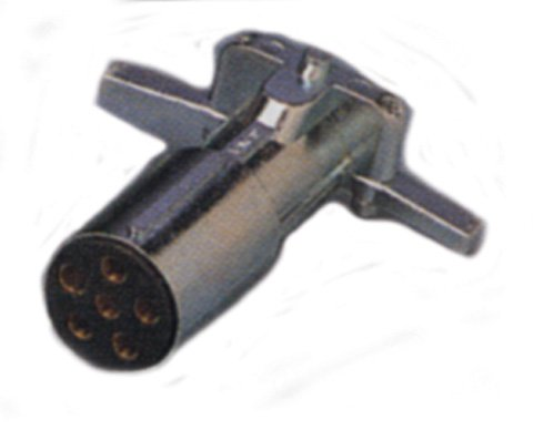 Rv Connector Plug, 6-Way, Carded By Bargman