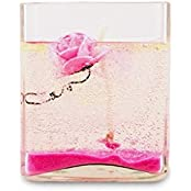 Gel Candle Glass- Large(Pink Rose)