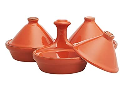 Comptoir Libanais Stoneware Nest Of 3 Small 7cm Tagines In Terracotta from Comptoir Libanais