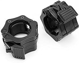 1quot Pair Jaw Barbell Collar Muscle Clamps Bar - Blackstandard Lock
