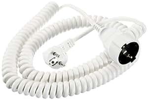 Bachmann 672.281 Rallonge Schuko Câble spirale 1000/4000 mm Blanc (Import Allemagne)
