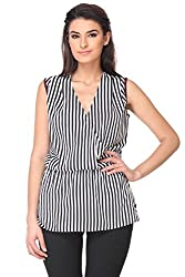KAARYAH - Stripes Sleevless Relaxed Fit Top