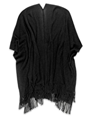 M&S Collection Cashmilon™ Tassel Trim Knitted Wrap