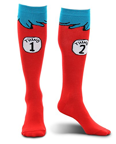 elope Dr Seuss Thing 1 & 2 Knee High Socks