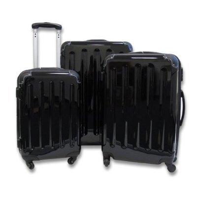 Trolley-Koffer-Set 3-tlg. *4 Rollen*Dehnfalte*Farbe: