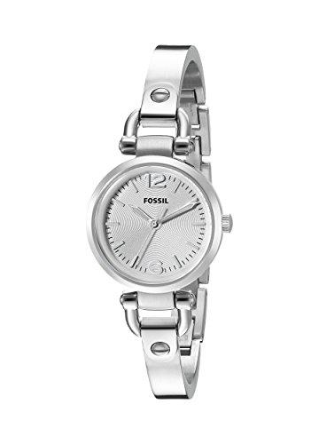 Fossil ES3269 - Reloj analógico de cuarzo para mujer, correa de acero inoxidable color plateado (agujas luminiscentes)