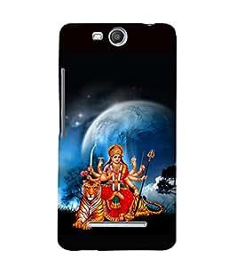 printtech Shera Wali Mata Goddess Back Case Cover for Micromax Bolt Q338