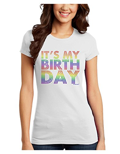 TooLoud It's My Birthday - Candy Colored Dots Juniors T-Shirt