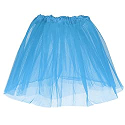 Phenovo Girls Kids Sky Blue 3-LayeredTutu Princess Mini Skirt Summer Party Dancewear