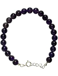 WCJ Silver Chakra Amethyst Bracelet To Absorb Negatives & Attract Wealth