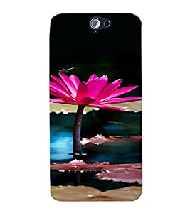 PrintVisa Lotus Pond Design 3D Hard Polycarbonate Designer Back Case Cover for HTC One A9