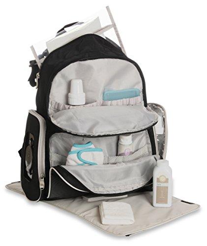 Graco Gotham Smart Organizer System Back Pack Diaper Bag, Black/Grey